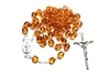 8mm Amber Crystal Rosary