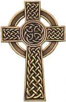 8 in. Antique Bronze Plated or Plain Fine Pewter Knotted Celtic Cross