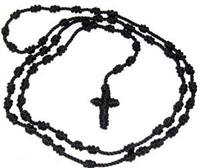 Black Neck Cord Rosary