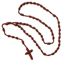 Brown Neck Cord Rosary