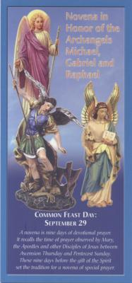 Novena Pamphlet in Honor of the 3 Archangels Michael, Gabriel and Raphael
