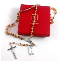 Topaz Crystal Bead Rosary (#R7TO)