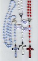 "18"" Plastic Bead Rosaries - Assorted Colors"