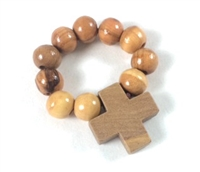 Hand Made in Olive Wood Finger Rosary