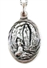 Sterling Silver Our Lady of Lourdes from Green