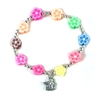 Flower Bracelet with Angel Charm Z-BLT ANG