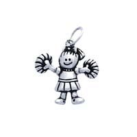 SE Large 3D Character Charm - Cheerleader