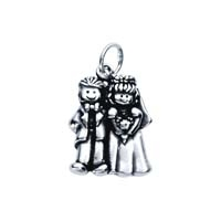 SE Large 3D Character Charm - Groom Bride