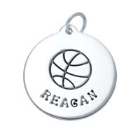 SE Large Circle Charm - Basketball