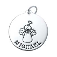 Large Circle Charm - Male Angel