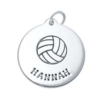 SE Large Circle Charm - Volleyball