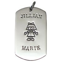 SE Large Dogtag - Full Character Girl
