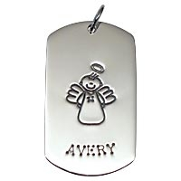 SE Large Dogtag - Full Character Male Angel