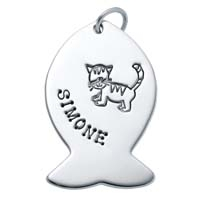 Large Fish Charm - Cat