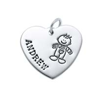 Large Heart Charm - Full Character Boy