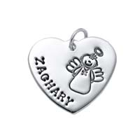 Large Heart Charm - Full Character Male Angel