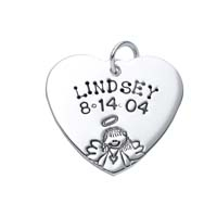 Large Heart Charm - Half Character Angel