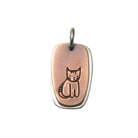 Stripe Cat Life Charm