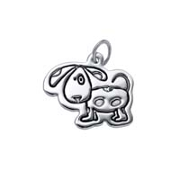 Large Outline Charm - Dog