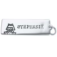 Large Rectangle Charm - Girl
