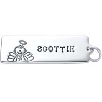 Large Rectangle Charm - Male Angel