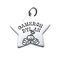 Large Star Charm - Male Angel