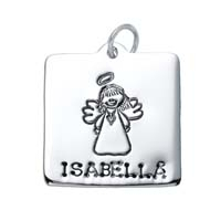 Large Square Charm - Angel
