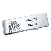Money Clip - Groom and Bride