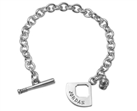 """Play Ball"" Toggle Bracelet w/3D Cap Charm"