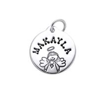 Small Circle Charm - Girl Angel