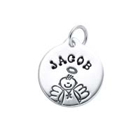 Small Circle Charm - Male Angel