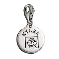 Small Circle Latch Charm Family Brother