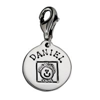 Small Circle Latch Charm Family Father