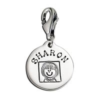 Small Circle Latch Charm Family Mother