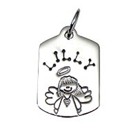 Small Dogtag Half Character Angel