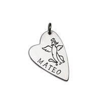 Cat Angel Heart Charm