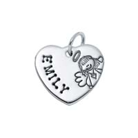 Small Heart Charm - Angel