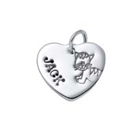Small Heart Charm - Cat