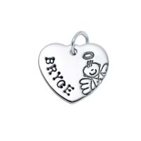 Small Heart Charm - Male Angel