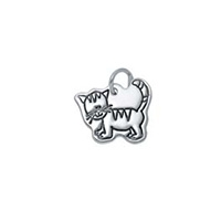 Small Outline Charm - Cat