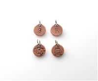 Tiny Little Charm - Copper Circle