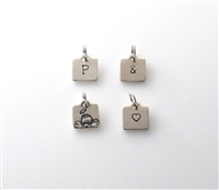 Tiny Little Charm - Silver Square