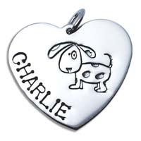 X-Large Heart Charm - Dog