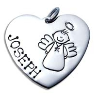 X-Large Heart Charm - Male Angel