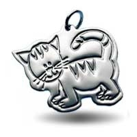 X-Large Outline Charm - Cat