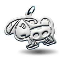X-Large Outline Charm - Dog