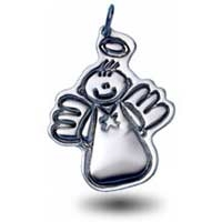 X-Large Outline Charm - Male Angel