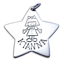 X-Large Star Charm - Girl