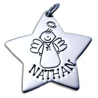 X-Large Star Charm - Male Angel