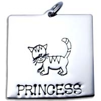 X-Large Square Charm - Cat